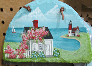 Slate decorated of Cape Cod.