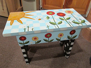 A little painted table