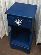 A nautical low table.